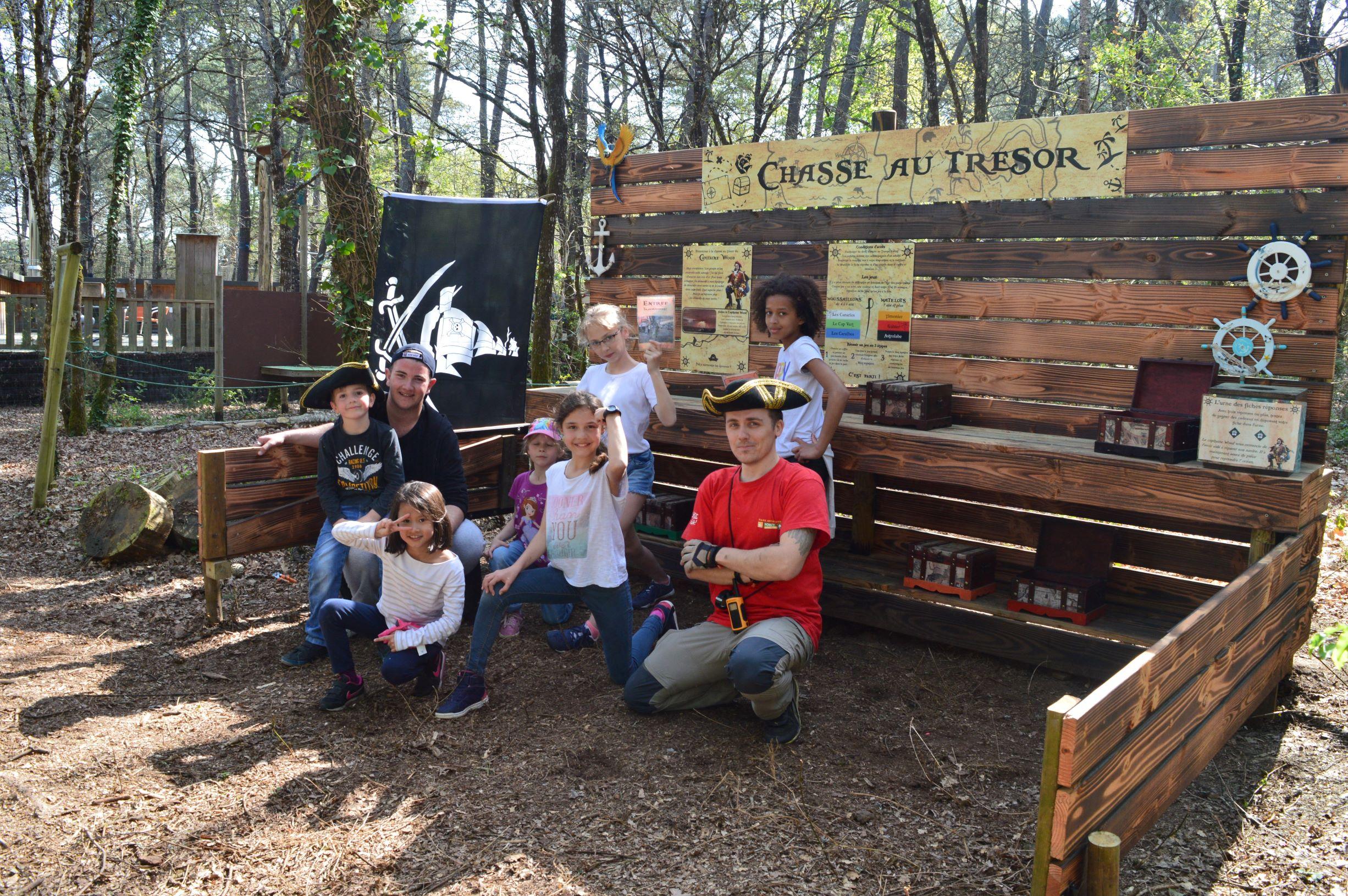 Forêt Adrénaline Carnac_ Chasse au trésor_découverte